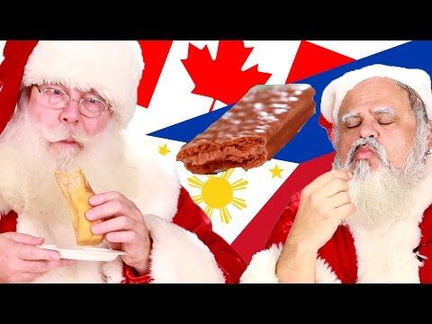 American-Santas-Try-International-Sweets