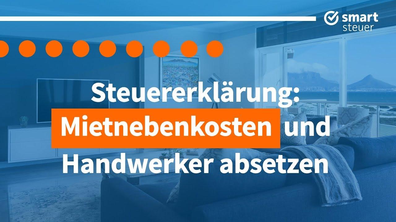 Miete ABSETZEN 🏡 Tipps und Tricks Steuererklärung 2019 ...
