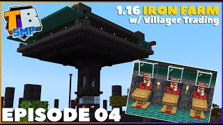 1.16 Double IRON FARM w/ Villager Trading | Truly Bedrock S2E4