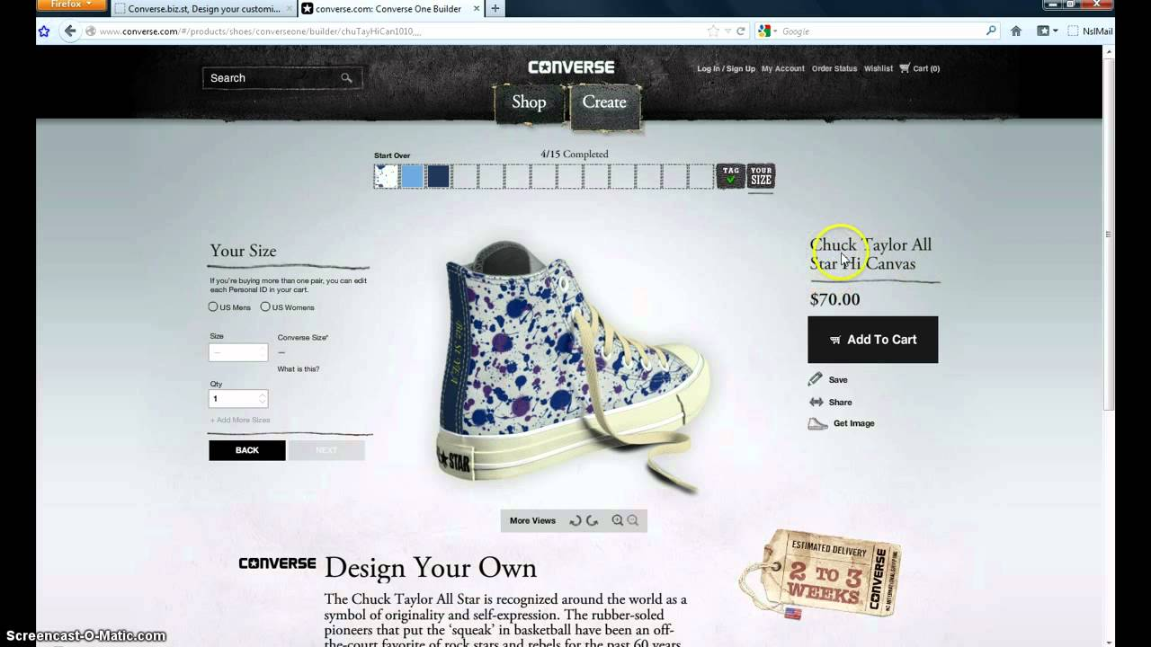 f70eb557bf1c Order the Design your own custom Converse Internationally - YouTube