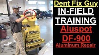 Dent Fix Guy...IN FIELD TRAINING | DF-900 Aluspot Aluminum Repair Station