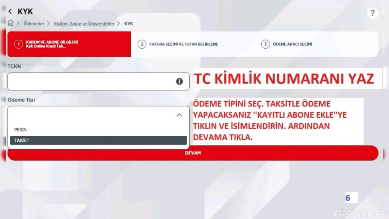 Ziraat Mobil Internet Bankaciligindan Kyk Kredi Borcu Odeme Youtube