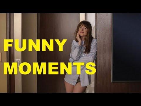 FIFTY SHADES DARKER FUNNY MOMENTS (NUTCRACKS, FACE SLAPS, AWKWARD MOMENTS)