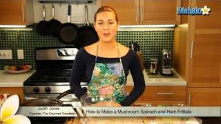 How To Make A Mushroom Spinach And Ham Frittata