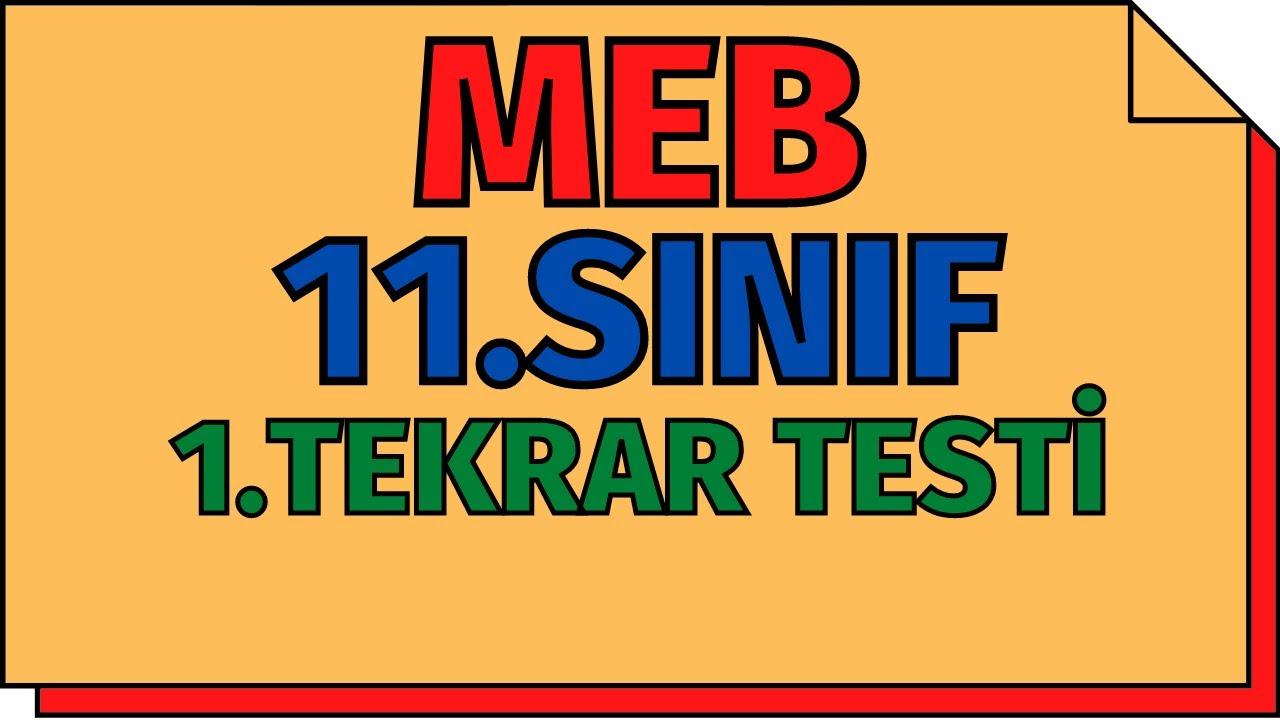 11.Sınıf Kimya Tekrar Testi (MEB)   AYT 2020