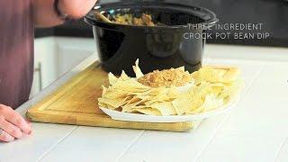 3 Ingredient Crock Pot Bean Dip // Real Housemoms