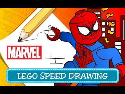 How To Draw Spiderman Come Disegnare Spiderman Lego Marvel Super