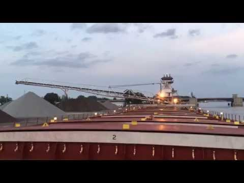 Tour a Great Lakes freighter unloading on the Saginaw River