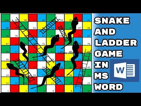 How To Make Snake And Ladder Game In MS WORD