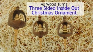 Three Sided Inside Out Christmas Ornament