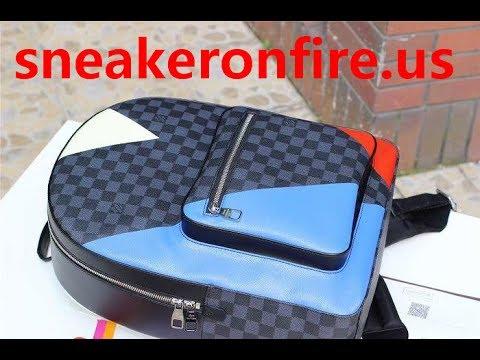 5d03f1c8a49e Luxury Damier Cobalt Canvas Josh Backpack N41612 Instagram  sneakeronfireus