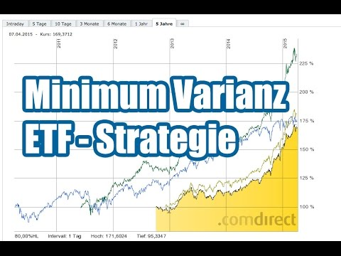Minimum Varianz ETF Strategie - Aktien Für Risikoscheue Anleger?