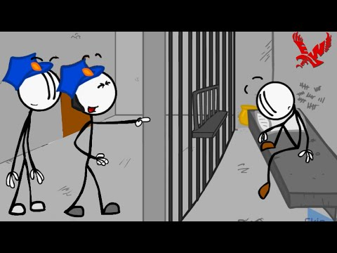 Escaping the Prison Stickman Gameplay - 3 Way to Escape From Prison || Funny Stickman Video Clips