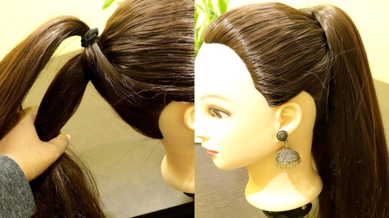 beautiful high ponytail beginners