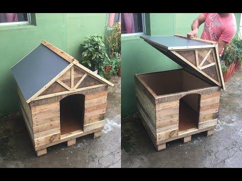 CASA para PERRO de  PALLETS// DIY PALLET DOG HOUSE