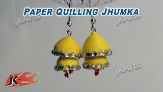 DIY Paper Quilling Jewelry Jhumka |  How to make | JK Arts 340