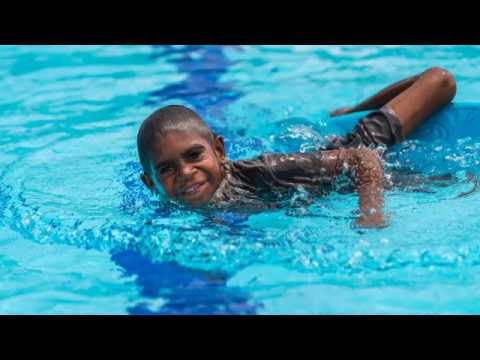 Children from remote indigenous community learn swimming and lifesaving skills