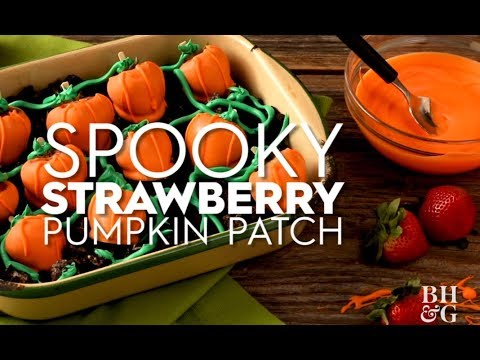 Spooky Strawberry Pumpkin Patch | Fun With Food | Better Homes & Gardens