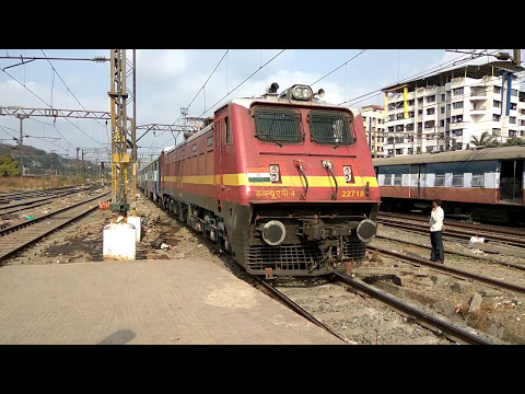 12336 LTT Bhagalpur express arriving at Kalyan