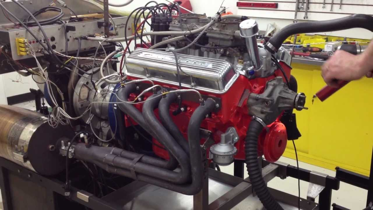 Chevy 283 Engine Idling On The Dyno Youtube