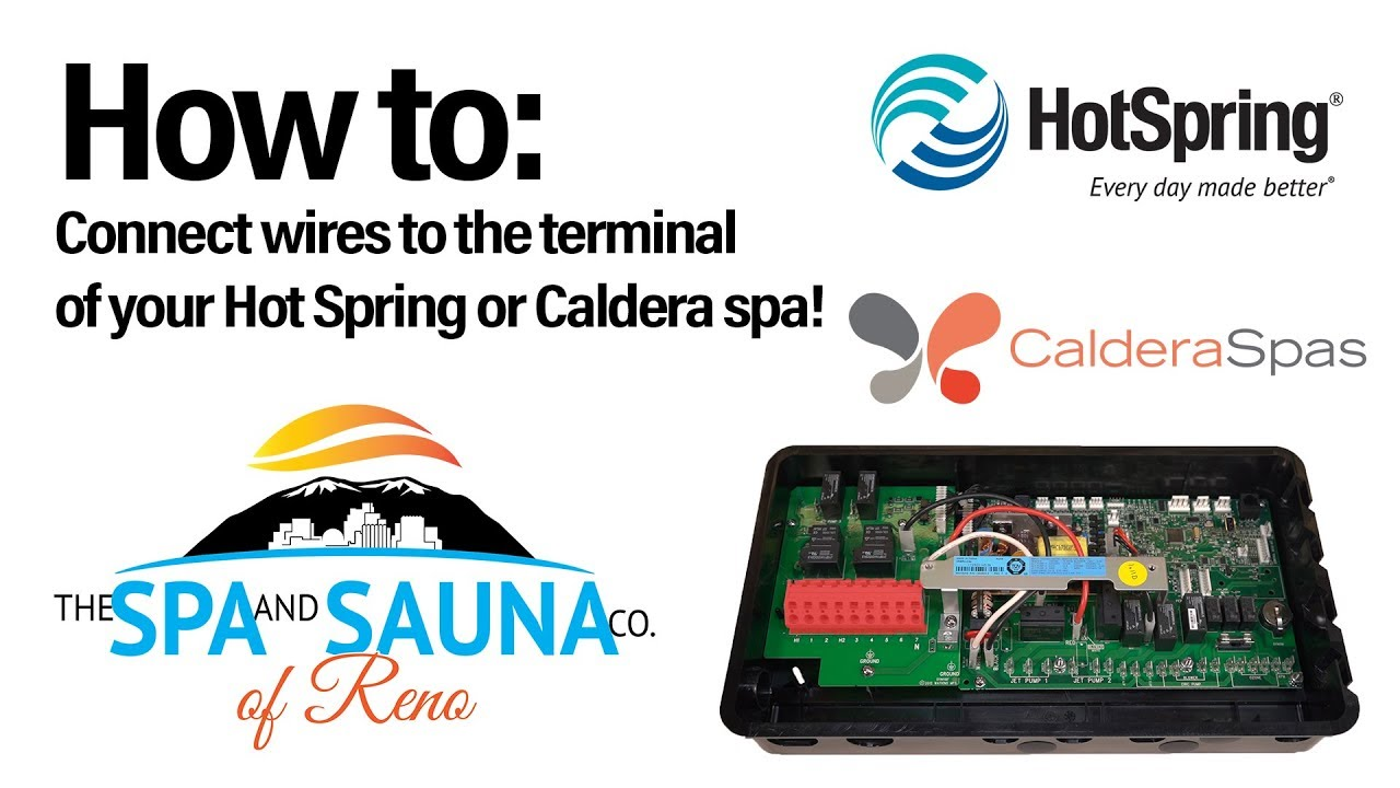 How to attach a wire into the terminal block of a Caldera or Hot Spring Wiring Hot Springs Spa on hot springs pool, hot tub wiring, hot springs wiring diagram, hot springs sovereign plumbing diagram, hot springs wires,