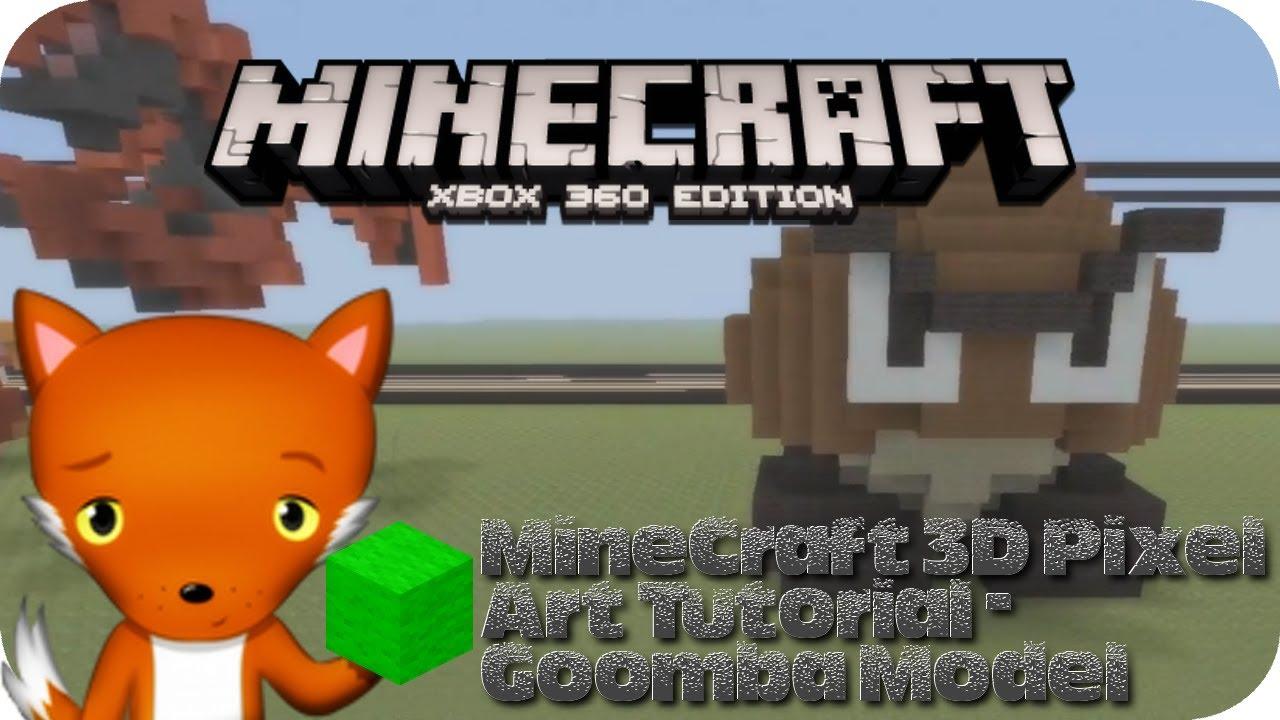 Minecraft 3d Pixel Art Tutorial Goomba Model From Mario