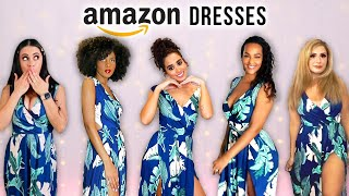 5 Women Try The Same Amazon Dresses!