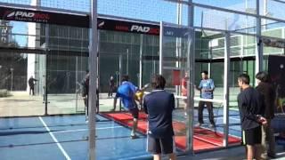 Padbol jornada en aranjuez evento con futbolistas