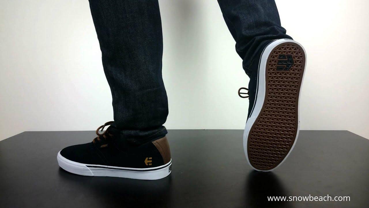 Etnies Jameson Vulc Skate Shoes Navy Brown White