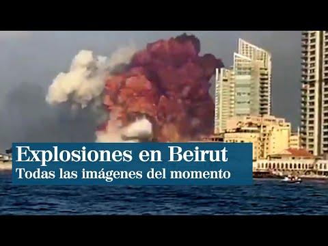 Al menos 50 muertos tras impresionante explosión en Beirut