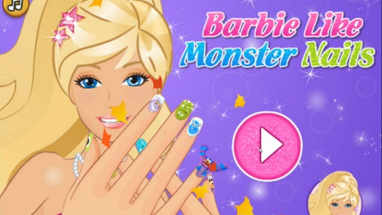 Nail Art Ideas Barbie Nail Art Games Pictures Of Nail Art Design