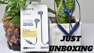 Sony WI-XB400 Wireless Stereo Headset or Bluetooth Earphone Unboxing & Physical Overview