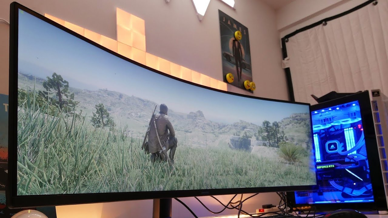 This Samsung 49 inch curved super ultra wide monitor is amazeballs | Samsung CRG9 review