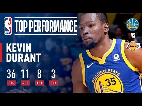 Kevin Durant Scores 36, Leads Warriors to OT Win in L.A. | December 18, 2017