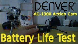 Denver AC-1300 HD Action Cam - Battery Life Test - 117
