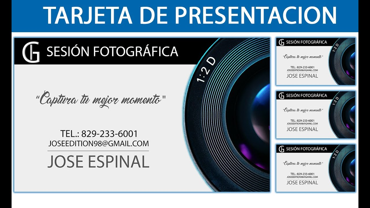 Cómo hacer una Tarjeta de presentación Decente/Sencilla || Photoshop ...