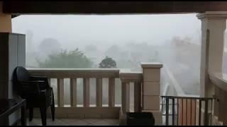 Imagen del temporal en Mallorca