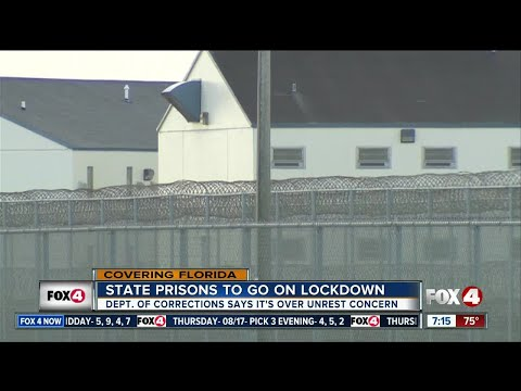 Florida prisons to go on lockdown