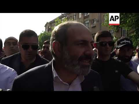 Nikol Pashinian leads Armenian protest a day before key vote