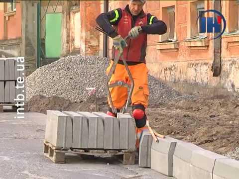 Телеканал ІНТБ: У Тернополі ремонтують тротуари