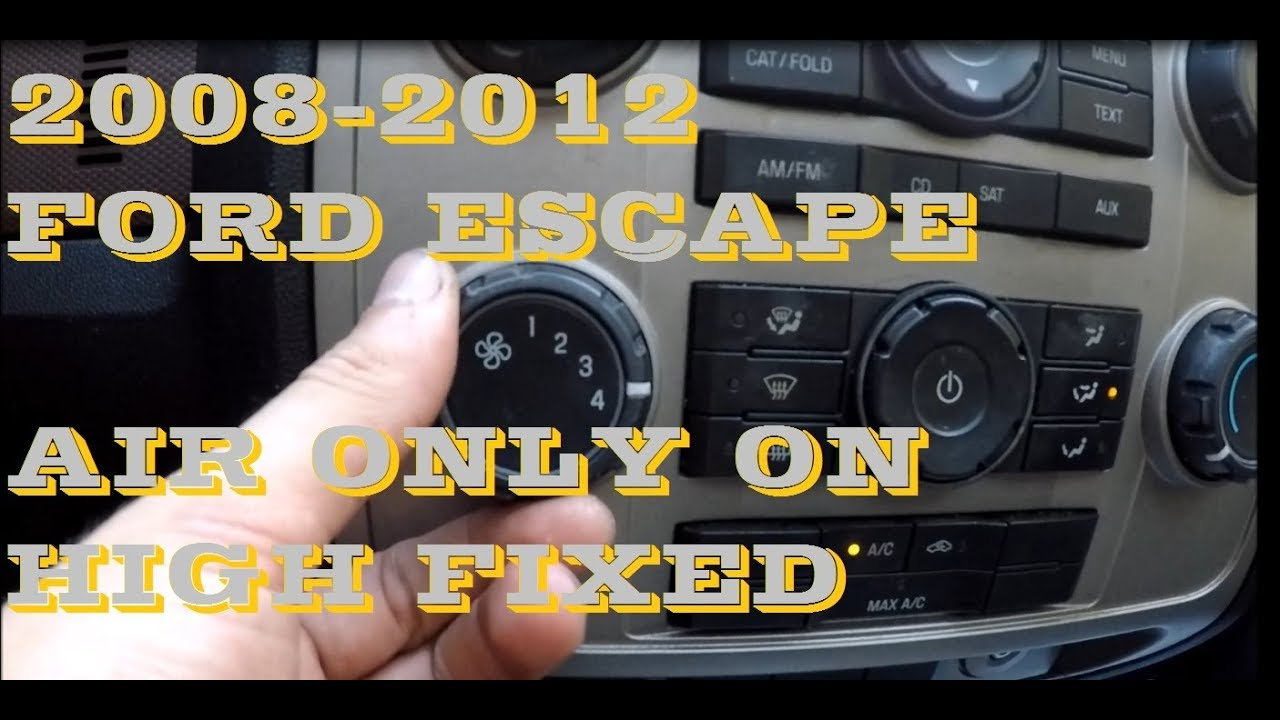 How To Replace Blower Motor Resistor In Ford Escape And Mazda 2010 Tribute Fuse Box If It Blows Air Only On 4