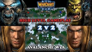 Grubby | Warcraft 3 The Frozen Throne | 2v2 - UD&HU vs HU&ORC- High Level Gameplay - Avalanche W3a