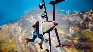 GRAPPLING A CARGO PLANE! - JUST CAUSE 3 MULTIPLAYER MOD FUNNY MOMENTS