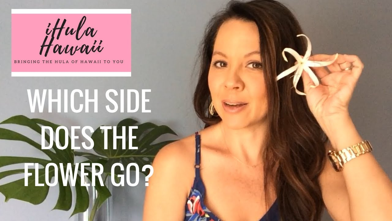 HOW TO WEAR A FLOWER IN YOUR HAIR - HAWAIIAN STYLE