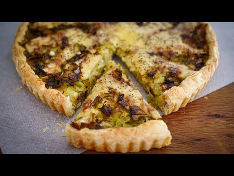 tarte-feuilletée-aux-poireaux-et-fromage-raclette,-facile-et-gourmande