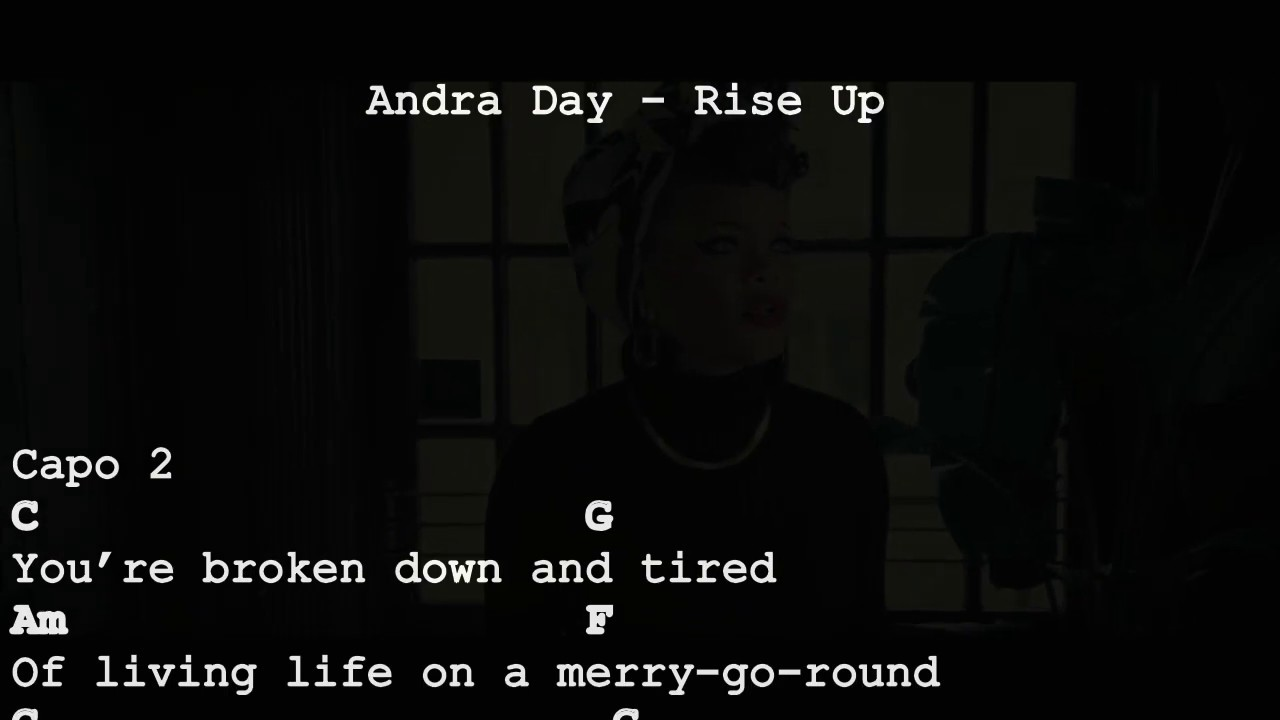 Andra Day - Rise Up (chords for smartphone) Acoustic guitar