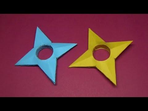 How To Make Paper Ninja Star Shuriken Origami Youtube