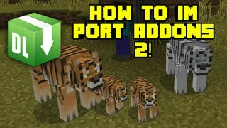 How To Import Addons In MCPE Using .Zip File! (Simple & Easy Steps)