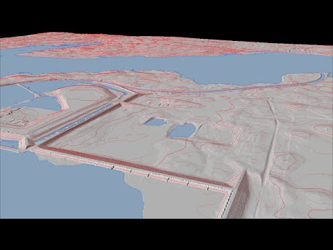 Airborne LiDAR Survey of Hydroelectric Dam