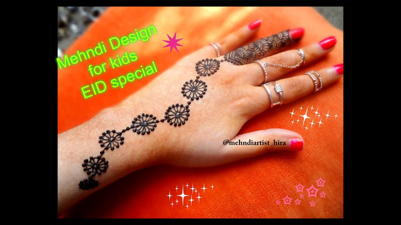 Simple Latest Beautiful Mehndi Designs For Hands Bail For Children